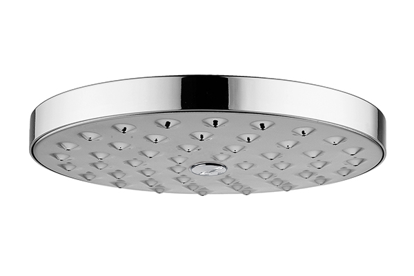 ROUND SHOWER HEAD, MINIMALIST, INCLUDING INSPECTABLE WATER DESCALER FILTER - DIAMETER 300 MM, CONNECTION 1/2