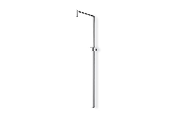 SQUARE TELESCOPIC SHOWER COLUMN, BRASS MADE -  ADJUSTABLE IN HEIGHT FROM 660 MM TO 1.080 MM